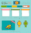 Website template with cartoon birds vector illustration eps Stock Image