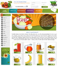 Website template design along with icons and images vegetable related Royalty Free Stock Images