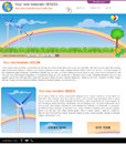 Website template design along with icons and images wind energy related Stock Image