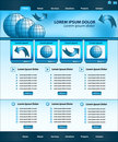 Website template design blue Stock Photography