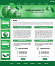 Website template design green Royalty Free Stock Images