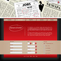 Website template design with newspaper header Royalty Free Stock Image