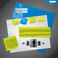 Website template design with notepapers Royalty Free Stock Image