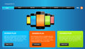 Website template design web elements for web Stock Photography