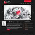 Website template for designers and photographers Royalty Free Stock Photos