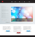 Website template easy editable art Royalty Free Stock Photo