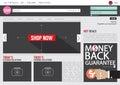 Website Template Flat Design Royalty Free Stock Photo