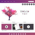 Website template grunge colorful professional design for business in editable vector Royalty Free Stock Photo