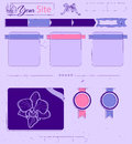 Website template with lilac vintage elements vector illustration eps Royalty Free Stock Photos