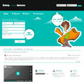 Website template with urban graffiti character. Vector Eps 10