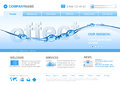 Website template: WATER LINE Stock Photo