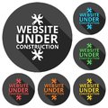 Website under construction icons set with long shadow Royalty Free Stock Photo