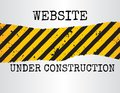 Website under construction sign illustration of a grunge with yellow and black diagonal pattern Stock Image