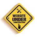Website Under Construction Sign in White Backgroun