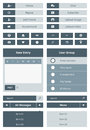 Website user interface form vector set of navigation elements and buttons for isolated on gray background Stock Photography