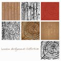 Webwooden backgrounds collection vector illustration. wood texture elements for design