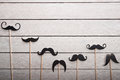 Wedding accessories set moustache Royalty Free Stock Photo