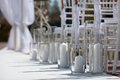 Wedding aisle for wedding ceremony an outdoor Stock Images