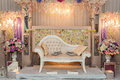 Wedding altar beautiful for a malay ceremony Stock Photography
