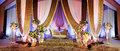 Wedding altar a beautifully decorated on a stage at a function Royalty Free Stock Image