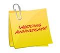 Wedding anniversary post illustration design Royalty Free Stock Photo