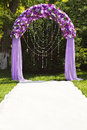 Wedding arch Stock Photo