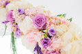 Wedding arch with closeup detail of floral Royalty Free Stock Photo