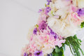 Wedding arch with closeup detail of floral Royalty Free Stock Photography