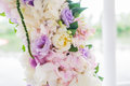Wedding arch with closeup detail of floral Stock Images