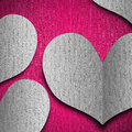 Wedding background with hearts Stock Photos