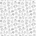 Wedding background. Seamless pattern of wedding object. Cartoon