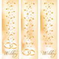 Wedding banner with the wedding rings Stock Image