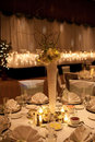 Wedding banquet centrepiece Royalty Free Stock Photo