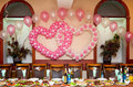 Wedding banquet table Stock Photos