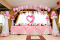 Wedding banquet table Stock Photography