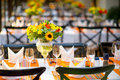 Wedding and banquet table beautiful spent decoration close up Stock Photography
