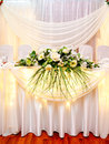 Wedding banquet table a laid at a restaurant Stock Photography