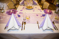 Wedding banquet table setting for Royalty Free Stock Image