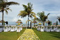 Wedding on the beach tropical settings for a a bali island Royalty Free Stock Photos