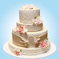 Wedding beautiful cake Royalty Free Stock Photo