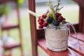 Wedding berries in jar decor closeup Royalty Free Stock Photos