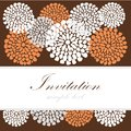 Wedding birthday card or invitation with abstract lace floral background greeting postcard illustration luxurywedding Stock Photo