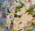 Wedding bouquet from beautiful roses Royalty Free Stock Image