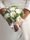 Wedding bouquet bride holding a Stock Image