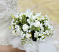 Wedding bouquet bride holding a Royalty Free Stock Image