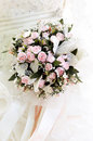 Wedding bouquet bride holding a Royalty Free Stock Photography