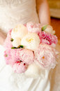 Wedding bouquet bride is holding the closeup Stock Images