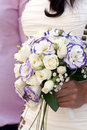 Wedding bouquet bride holding outdoors Royalty Free Stock Photos