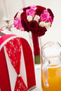 Wedding bouquet and card box Royalty Free Stock Photo