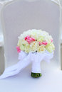 Wedding bouquet chair Royalty Free Stock Image